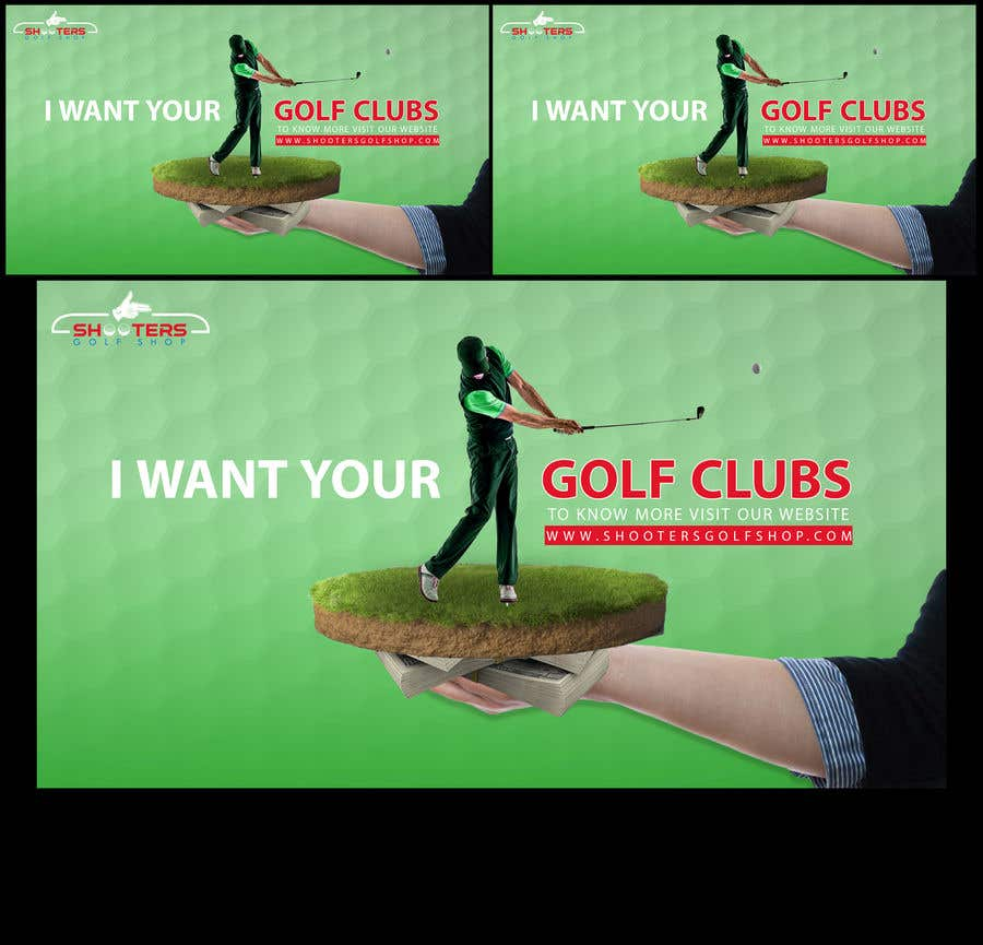 Kilpailutyö #                                        12                                      kilpailussa                                         Golf Shop Advertising Pictures / Designs