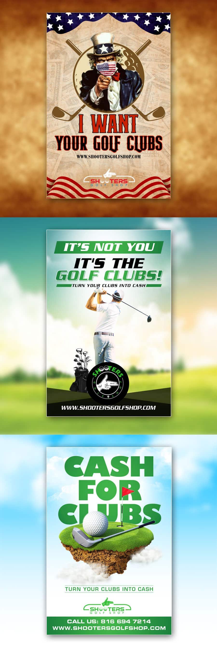 Kilpailutyö #                                        30                                      kilpailussa                                         Golf Shop Advertising Pictures / Designs