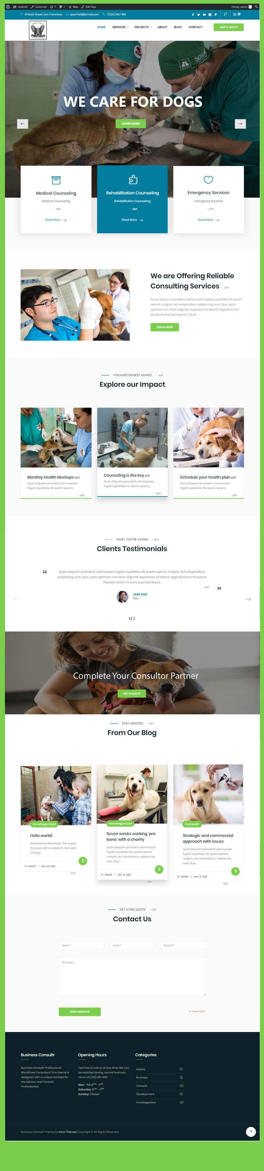 Kilpailutyö #                                        7                                      kilpailussa                                         Create a website mockup for a business that offers pet health certificates