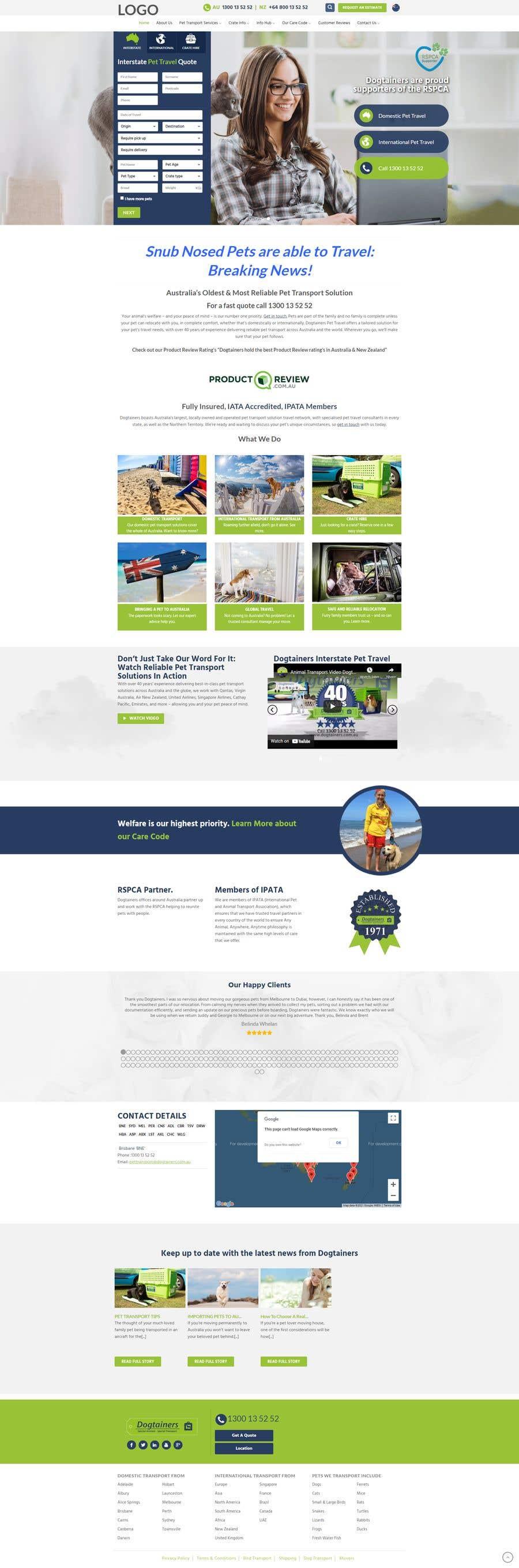 Kilpailutyö #                                        6                                      kilpailussa                                         Create a website mockup for a business that offers pet health certificates
