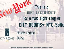 #5 for Design a Gift certificate fot a Hotel stay for 2 nights af dorialexa
