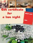 Graphic Design Contest Entry #3 for Design a Gift certificate fot a Hotel stay for 2 nights