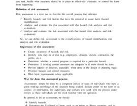 #32 for URGENT Create Risk Assessment for Delivery Drivers - 24 HOUR DEADLINE by jojojewel01960