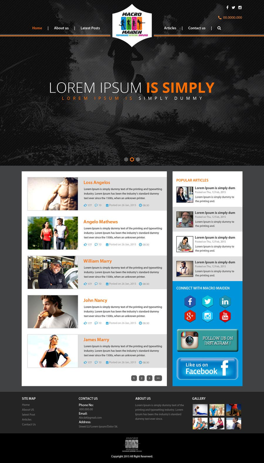 Contest Entry #20 for Design a Website Mockup for Fitness Health Site