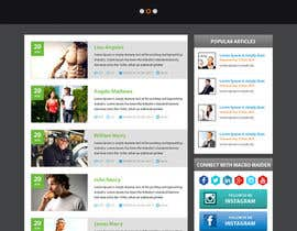 #38 for Design a Website Mockup for Fitness Health Site af xsasdesign