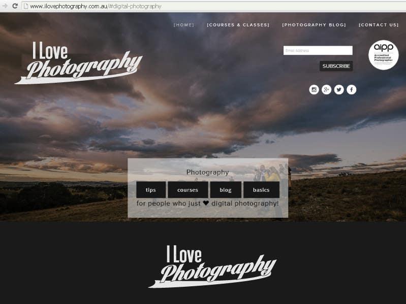 Penyertaan Peraduan #53 untuk Design a Logo for I ♥ Photography