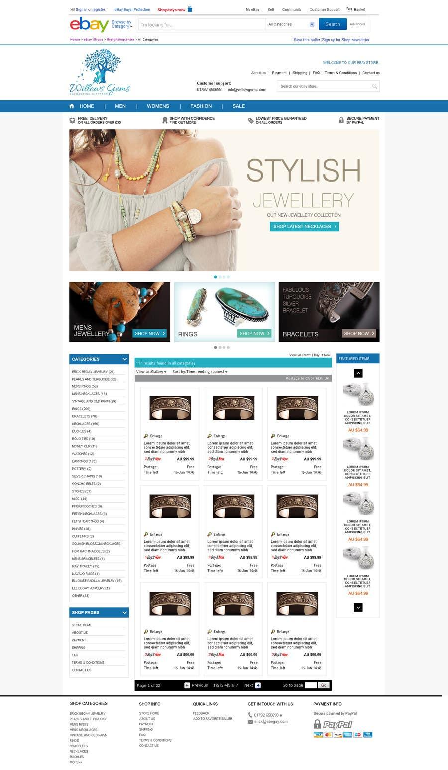 Konkurrenceindlæg #                                        2                                      for                                         Design a Ebay Store & Listing Template