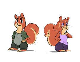 #12 for Design two squirrels cartoon characters for cookies brand by Bribear521