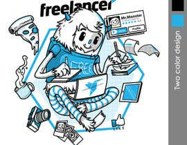 crayonscrayola tarafından Create a t-shirt design that best embodies Freelancer's hip and fun nature için no 205