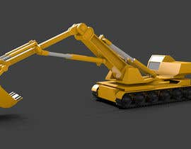 #1 for 3D illustration of a construction machine af renjupeebee