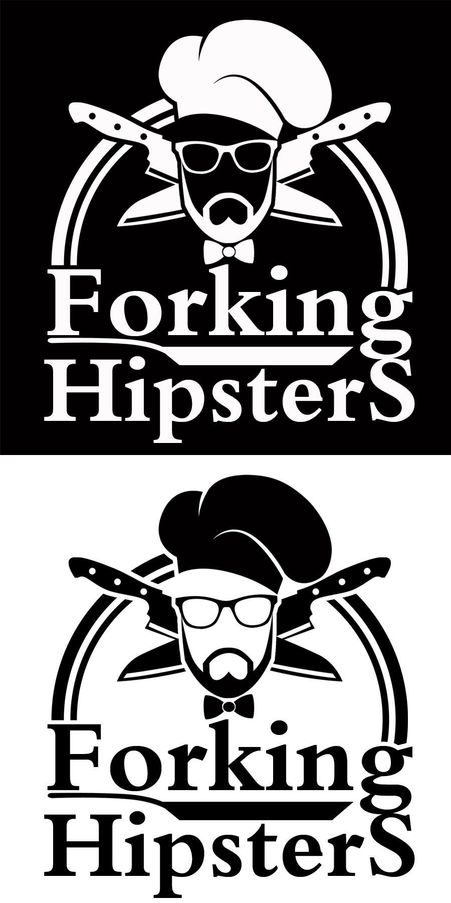 Proposition n°                                        26                                      du concours                                         Design a Logo for FOOD TV SHOW with hipster theme.