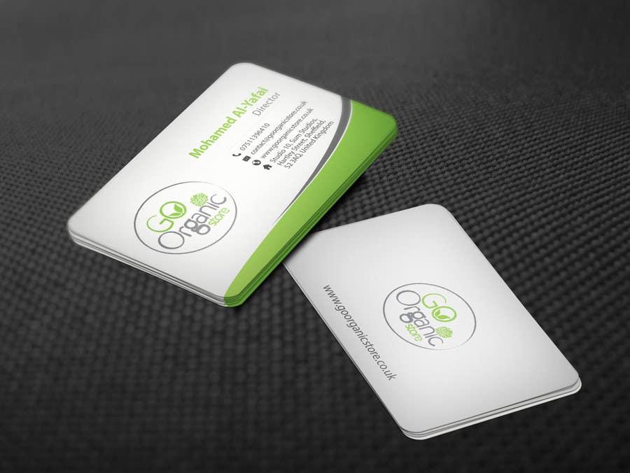 Konkurrenceindlæg #                                        63                                      for                                         Design some Business Cards for Go Organic Store