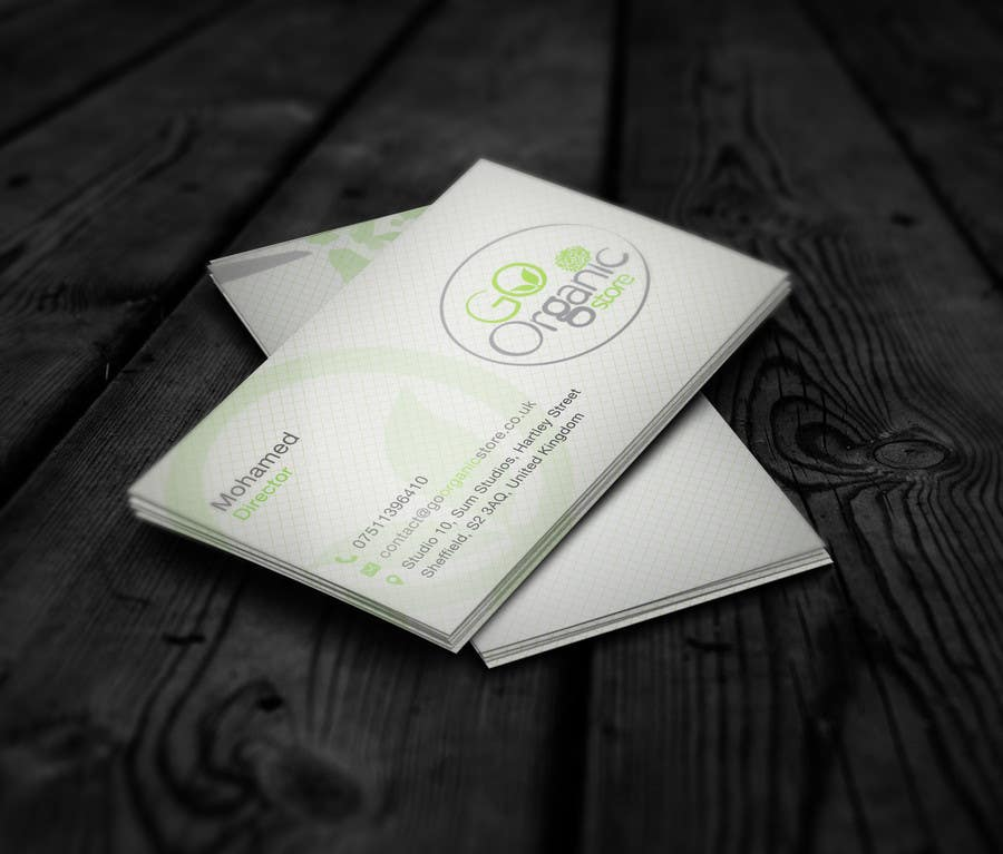 Konkurrenceindlæg #                                        1                                      for                                         Design some Business Cards for Go Organic Store