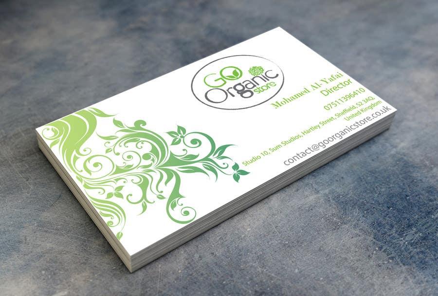 Konkurrenceindlæg #                                        51                                      for                                         Design some Business Cards for Go Organic Store