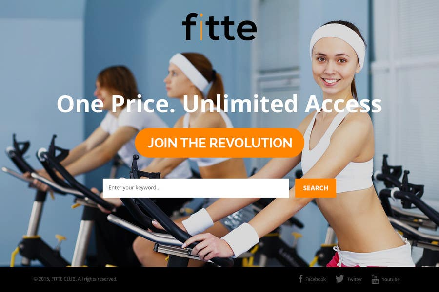 Contest Entry #                                        14                                      for                                         Design a Website Mockup for Fitness Business