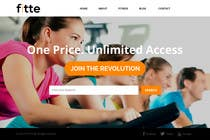 Graphic Design Konkurrenceindlæg #17 for Design a Website Mockup for Fitness Business