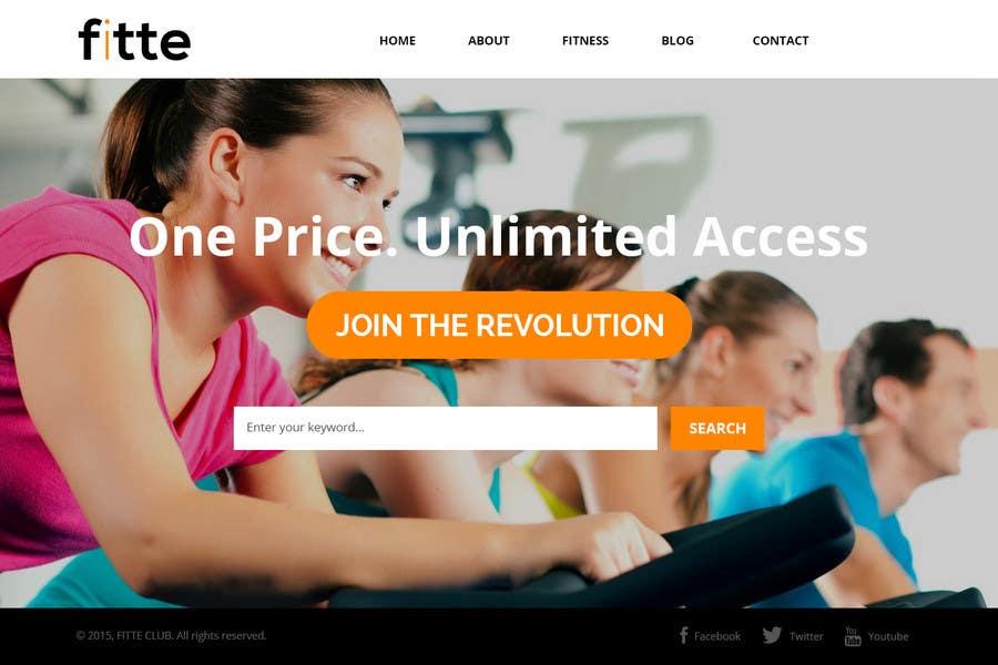 Konkurrenceindlæg #                                        17                                      for                                         Design a Website Mockup for Fitness Business