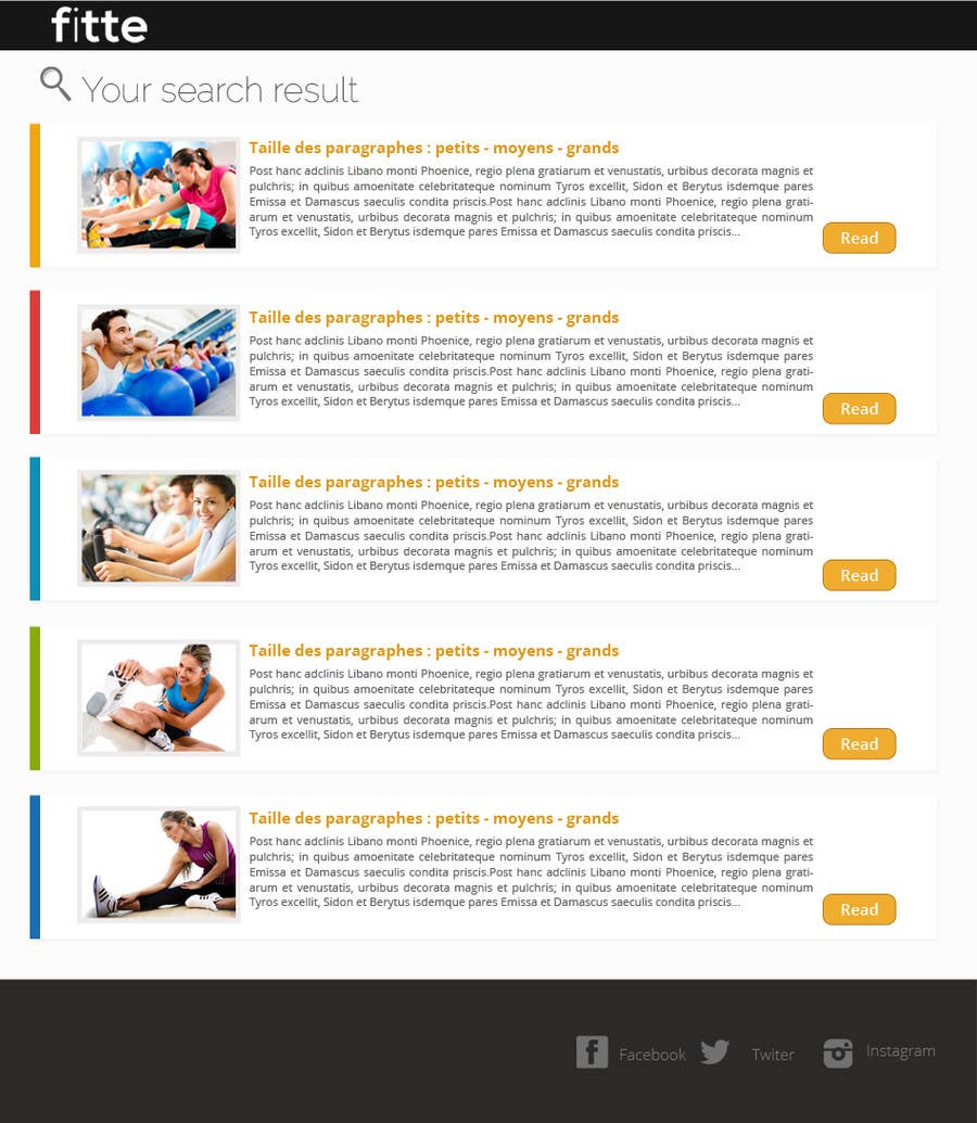 Contest Entry #                                        11                                      for                                         Design a Website Mockup for Fitness Business