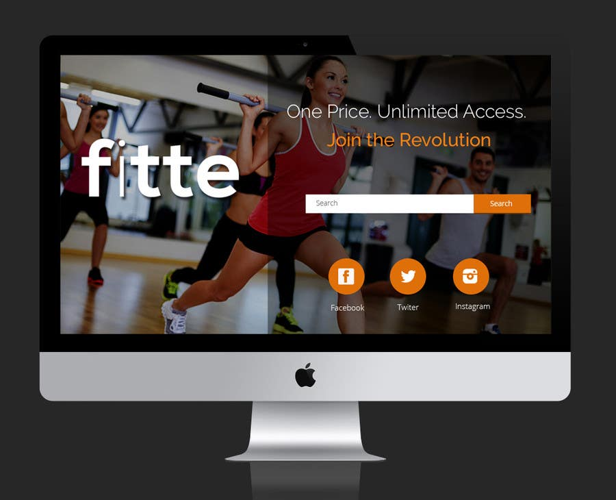 Contest Entry #                                        22                                      for                                         Design a Website Mockup for Fitness Business