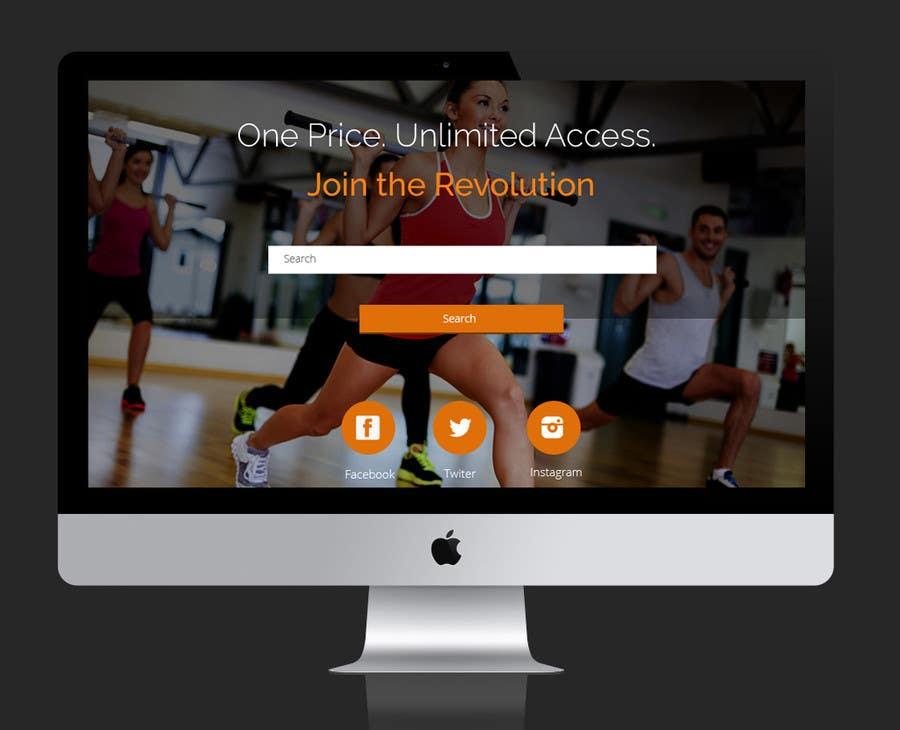 Konkurrenceindlæg #                                        25                                      for                                         Design a Website Mockup for Fitness Business