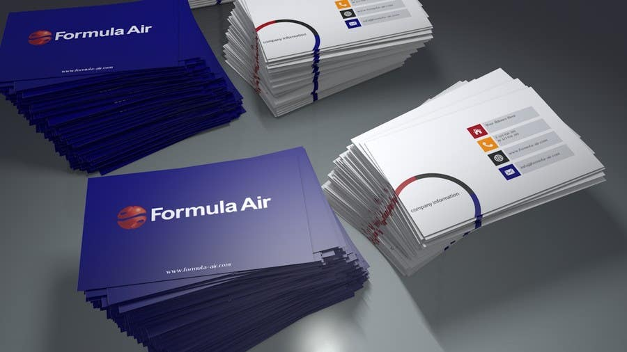Kilpailutyö #17 kilpailussa Formula Air businesscards!