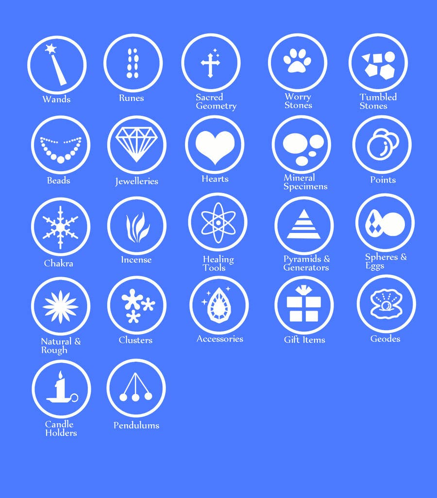 Contest Entry #                                        19                                      for                                         Design some Icons for Wholesale Crystal Website