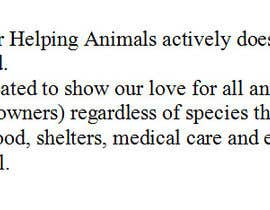 "#2 untuk Write a description of ""Alliance for Helping Animals"" oleh Aca91"