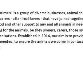 "#14 untuk Write a description of ""Alliance for Helping Animals"" oleh memspangl"