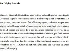 "#15 untuk Write a description of ""Alliance for Helping Animals"" oleh virparekh"