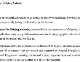 "#17 untuk Write a description of ""Alliance for Helping Animals"" oleh virparekh"