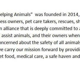 "#16 untuk Write a description of ""Alliance for Helping Animals"" oleh daniyalparveez95"