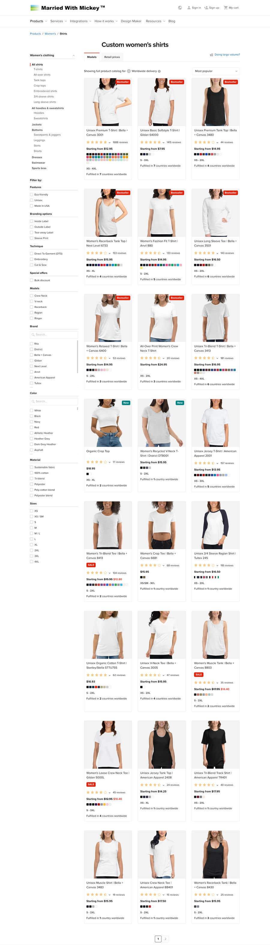 Kilpailutyö #                                        40                                      kilpailussa                                         Couples T-Shirt Website (rebuild)