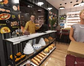 Nro 7 kilpailuun Interior and exterior Design for a coffee shop käyttäjältä Shuhadh