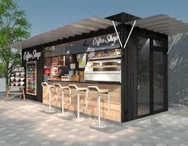 Nro 39 kilpailuun Interior and exterior Design for a coffee shop käyttäjältä Dilshanzgraphic