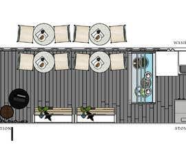 Nro 42 kilpailuun Interior and exterior Design for a coffee shop käyttäjältä raniaali22