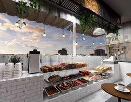 Nro 29 kilpailuun Interior and exterior Design for a coffee shop käyttäjältä angelikasung