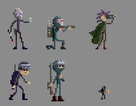 #54 for Create a unique pixel art stick figure character for 2D/3D comic and game series af v4f4t4