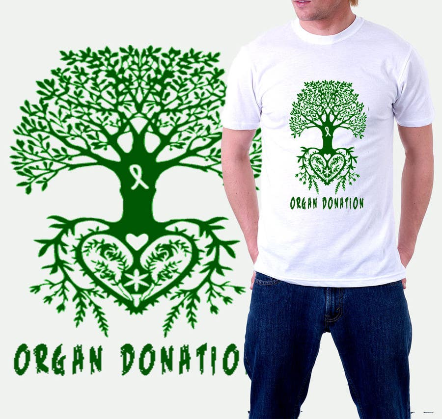 Konkurrenceindlæg #2 for Design a T-Shirt for organ donation