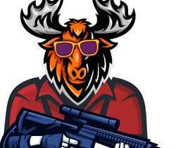 #102 para Undercover Moose Sticker por Hridu25
