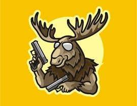 #99 para Undercover Moose Sticker por ura