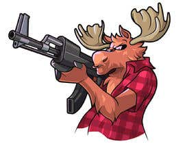 #129 para Undercover Moose Sticker por Cornman
