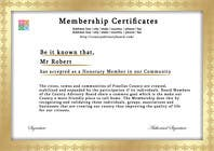 Graphic Design Contest Entry #4 for Design a membership certificate