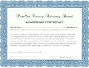 Graphic Design Contest Entry #10 for Design a membership certificate
