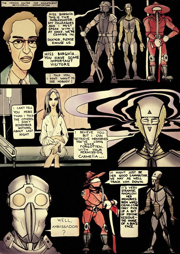 Kilpailutyö #20 kilpailussa Illustrate Page from Graphic Novel