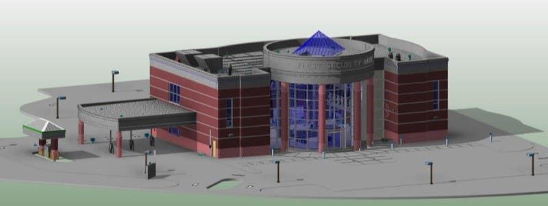 Konkurrenceindlæg #                                        3                                      for                                         Do some 3D Modelling and CAD for designing a bank branch