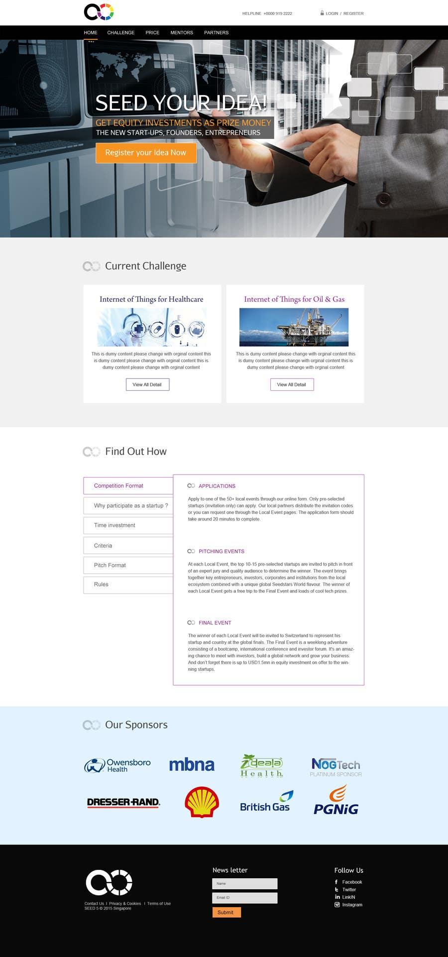 Inscrição nº 14 do Concurso para Design a Website Mockup for a Start-Up Competition