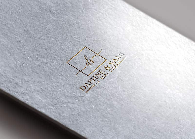 Penyertaan Peraduan #                                        111                                      untuk                                         Design modern and simple wedding  GOLD monogram logo for a WEDDING