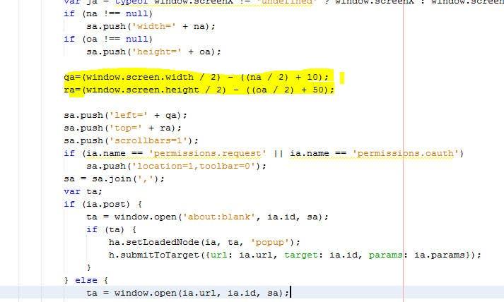 Inscrição nº 8 do Concurso para Facebook login pop-up should be in center in Mozilla