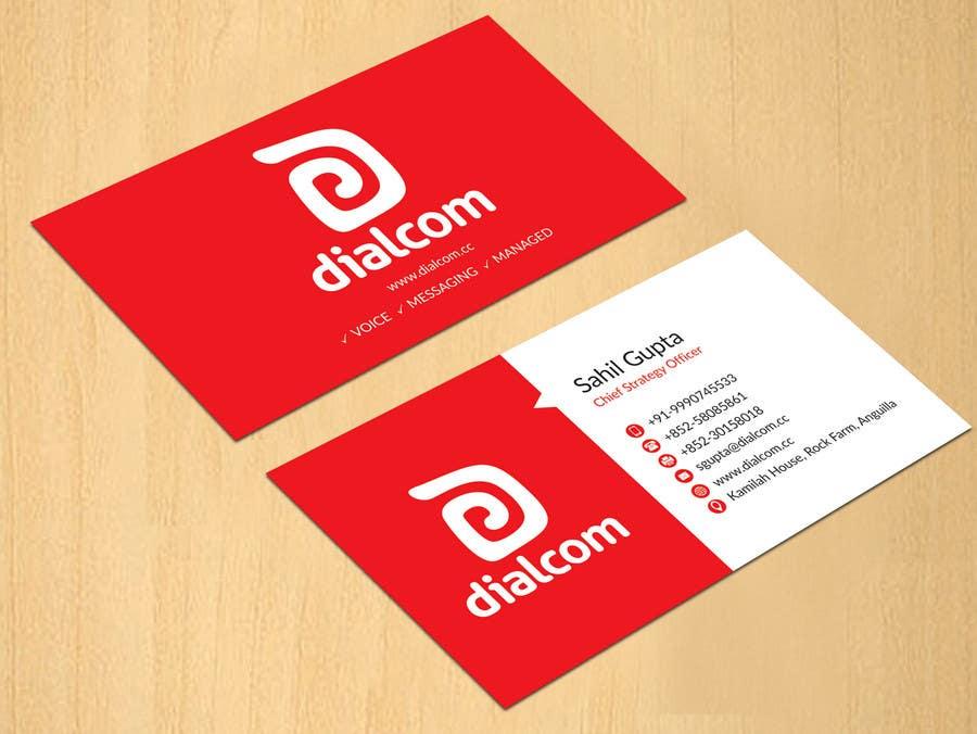 Konkurrenceindlæg #                                        126                                      for                                         Design some Business Cards for Dialcom Inc.