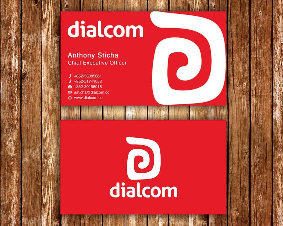 Konkurrenceindlæg #                                        127                                      for                                         Design some Business Cards for Dialcom Inc.